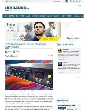 Test: Tegler Audio Manufaktur Crème, Stereo Equalizer und Kompressor