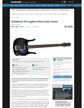 Danelectro '58 Longhorn Bass Guitar
