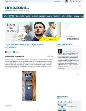 Test: Zoom H1 Matte Black, Mobiler Recorder