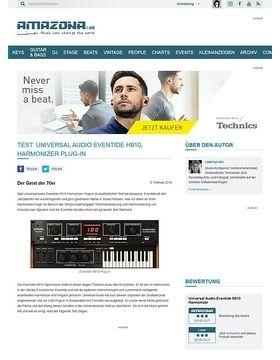 Test: Universal Audio Eventide H910, Harmonizer Plug-in