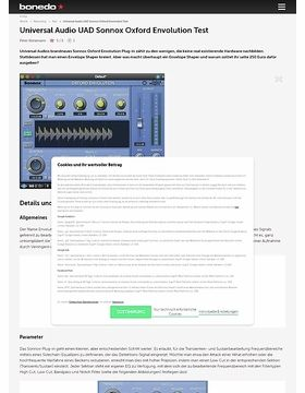 Universal Audio UAD Sonnox Oxford Envolution