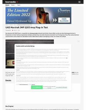 UAD Marshall JMP 2203 Amp Plug-In