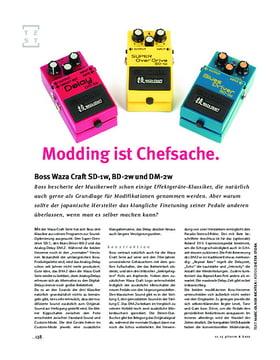Boss Waza Craft SD-1w, BD-2w und DM-2w, FX-Pedale