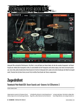 Toontrack Post-Rock EZX - Drum-Sounds und -Grooves für EZDrummer 2