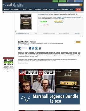 Universal Audio Softube Marshall Legends Bundle for UAD