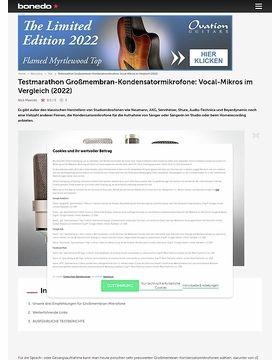 Testmarathon Großmembran Kondensatormikrofone: Vocal Mikros Im Vergleich