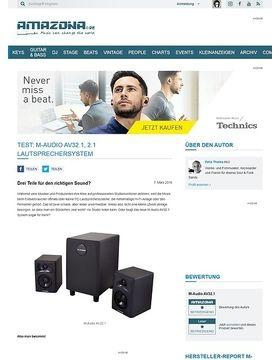Test: M-Audio AV32.1, 2.1 Lautsprechersystem