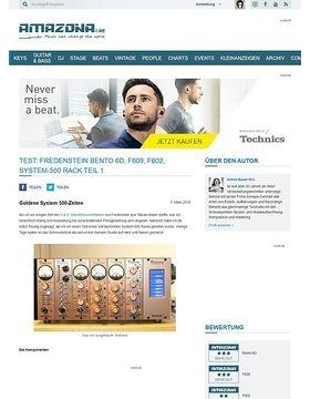 Test: Fredenstein Bento 6D, F609, F602, System-500 Rack Teil 1