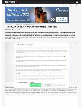 Tama S.L.P. 14x5,5 Vintage Poplar Maple Snare Test