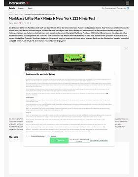 Markbass Little Mark Ninja & New York 122 Ninja