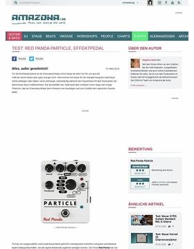 Test: Red Panda Particle, Effektpedal