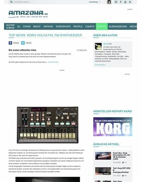 Top News: Korg Volca FM, FM-Synthesizer