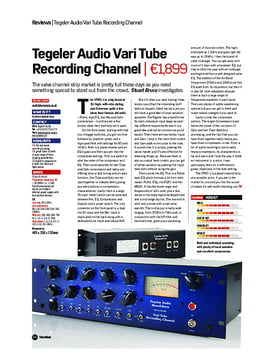 Tegeler Audio Vari Tube Recording Channel