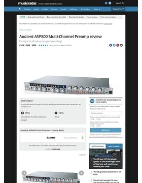 Audient ASP800 Multi-Channel Preamp