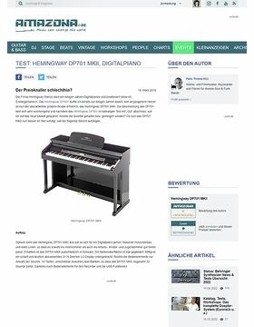 Test: Hemingway DP701 MKII, Digitalpiano