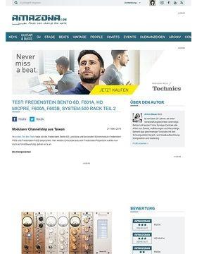 Test: Fredenstein Bento 6D, F601A, HD MicPre, F600A, F603B, System-500 Rack Teil 2