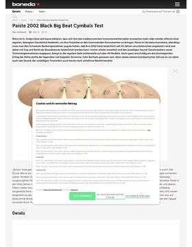 Paiste 2002 Black Big Beat Cymbals
