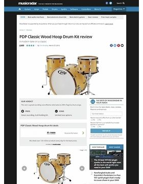 PDP Classic Wood Hoop Drum Kit