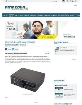 Test: Behringer Monitor2USB, Monitorcontroller