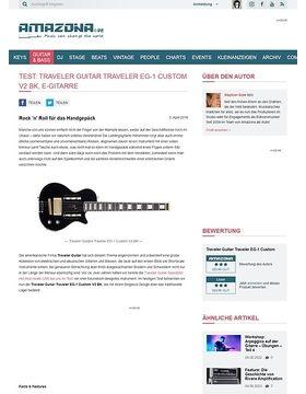 Test: Traveler Guitar Traveler EG-1 Custom V2 BK, E-Gitarre