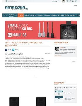 Test: the box PA 252 Eco MKII E800 Set, PA