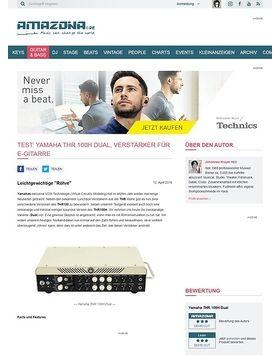 Test: Yamaha THR 100H Dual, Verstärker für E-Gitarre