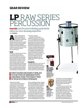 LP Raw Series Percussion