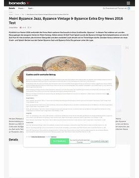 Meinl Byzance Jazz, Byzance Vintage & Byzance Extra Dry News 2016 Test