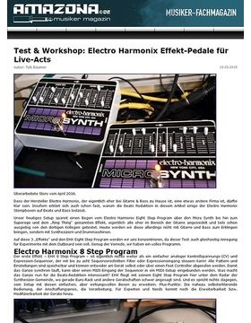 Workshop: Electro Harmonix Ring Thing, Eight Step, Superego, Micro Synth, Clockworks, Crash Pad, Memory Man