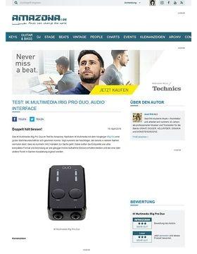 Test: IK Multimedia iRig Pro Duo, Audio Interface