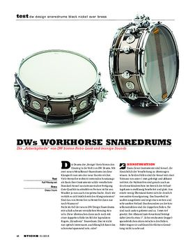 DW Design Black Nickel Over Brass Snaredrums