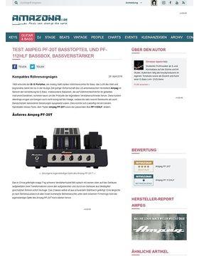 Test: Ampeg PF-20T Basstopteil und PF-112HLF Bassbox, Bassverstärker