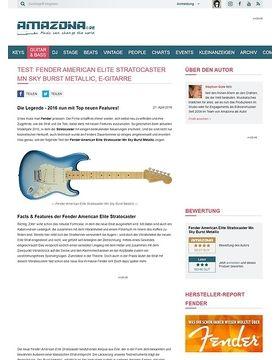 Test: Fender American Elite Stratocaster Mn Sky Burst Metallic, E-Gitarre