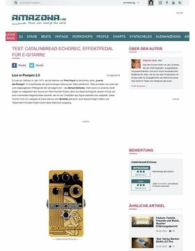 Test: Catalinbread Echorec, Effektpedal für E-Gitarre