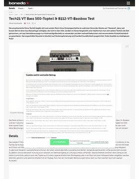 Tech21 VT Bass 500-Topteil & B112-VT-Bassbox