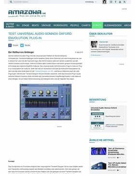 Test: Universal Audio Sonnox Oxford Envolution, Plug-in