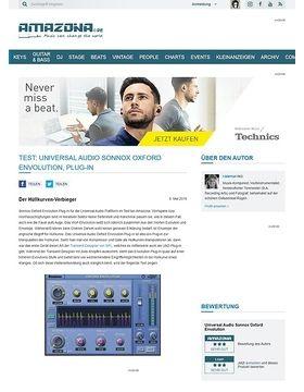 Test: Universal Audio Sonnox Oxford Envolution, Plug-in