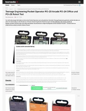 Teenage Engineering Pocket Operator PO-20 Arcade PO-24 Office und PO-28 Robot