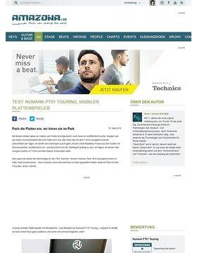 Test: Numark PT01 Touring, mobiler Plattenspieler