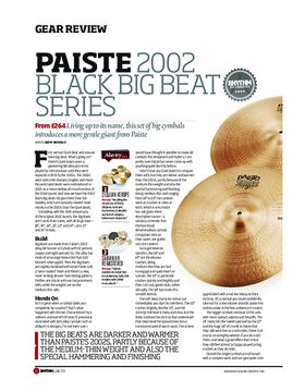 Paiste 2002 Black Big Beat Series