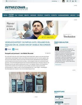 Vergleichstest: Olympus LS-P2, Roland R-05, Tascam DR-40, Zoom H4n SP, Mobile Recorder