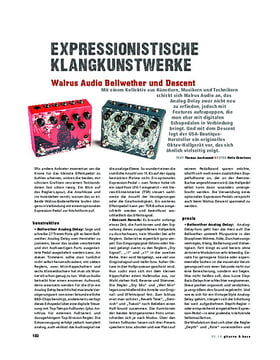 Walrus Audio Bellwether und Descent, FX-Pedale