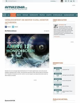 Vergleichstest: aktive 12-Zoll Monitorboxen, Dynacord A112A, Behringer Eurolive B812NEO, the box MA1220 MKII, Solton MF300A, dB Technologies Flexsys FM12