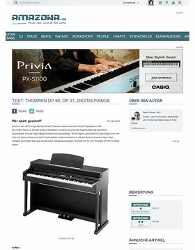 Test: Thomann DP-95, DP-31, Digitalpianos