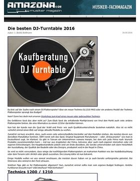 Die besten DJ-Plattenspieler 2016