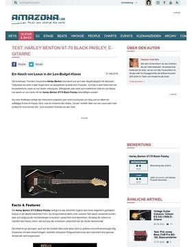Test: Harley Benton ST-70 Black Paisley, E-Gitarre