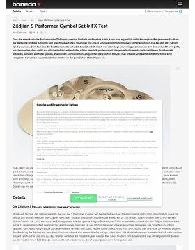 Zildjian S Performer Cymbal Set & FX