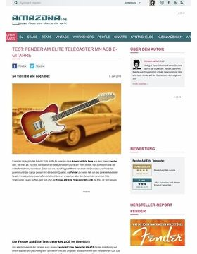 Test: Fender AM Elite Telecaster MN ACB, E- Gitarre