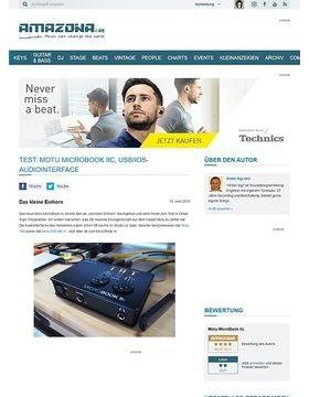 Test: Motu MicroBook IIc, USB/iOS-Audiointerface