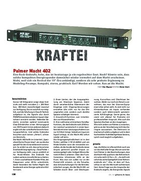 Palmer Macht 402, Gitarren-Endstufe